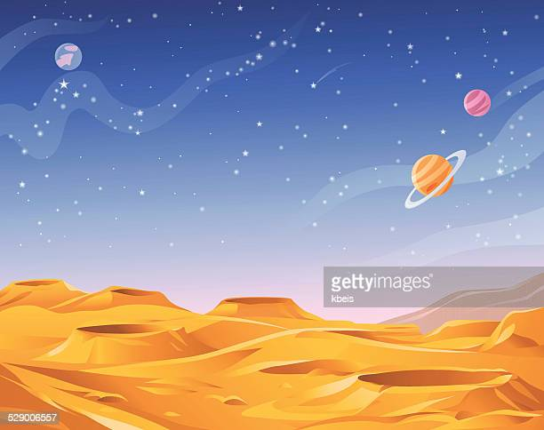 alien planet - copy space stock illustrations