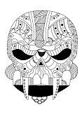 alien skull style