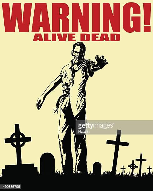 alive dead - zombie stock illustrations, clip art, cartoons, & icons