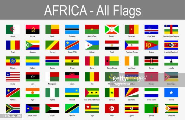 Tous les drapeaux africains - Icon Set - Vector Illustration
