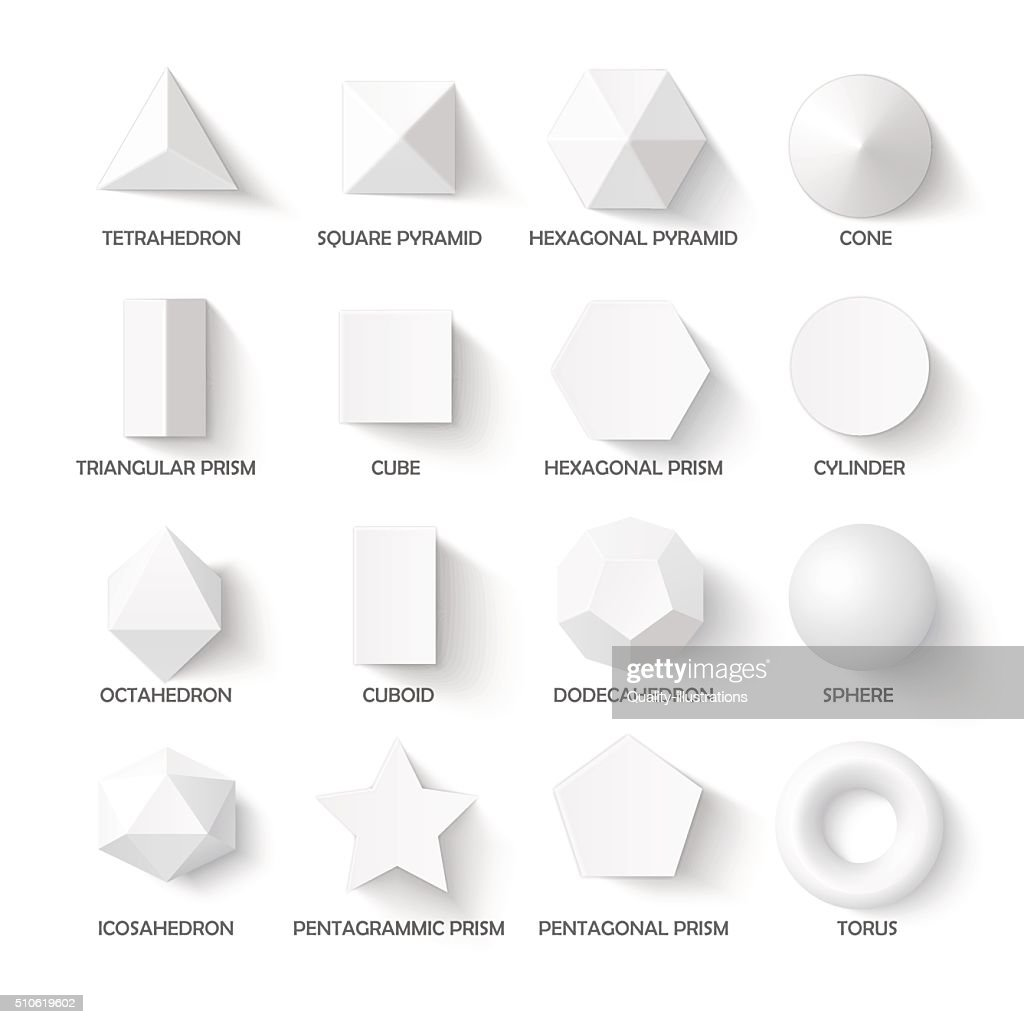 All basic 3d shapes