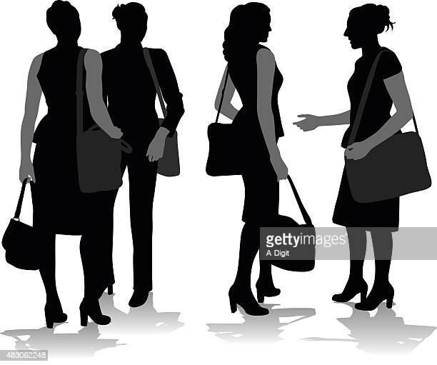 all business women - updo stock illustrations, clip art, cartoons, & icons