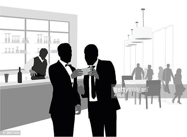 all dressed up and using a phablet - display cabinet stock illustrations, clip art, cartoons, & icons