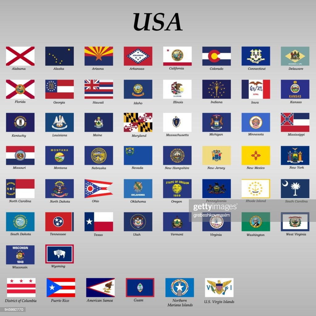 all Flags of states of the United States