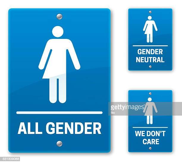 all gender restroom bathroom signs - toilet sign stock illustrations, clip art, cartoons, & icons