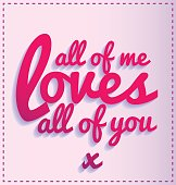 all of me love all of you