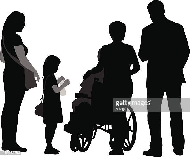 all of us vector silhouette - paralysis stock illustrations, clip art, cartoons, & icons