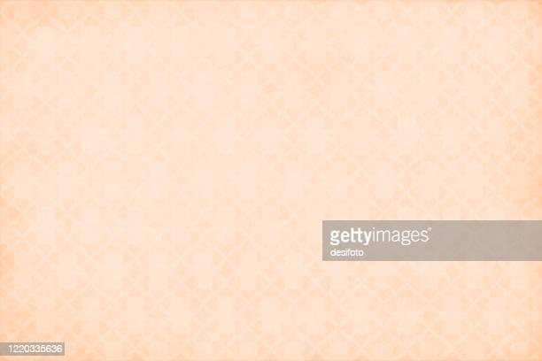 überall muster von hellbraunen oder beigefarbenen herzen bilden ein florales design über grunge hintergründe - tapete stock-grafiken, -clipart, -cartoons und -symbole