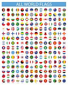All Round World Flags - Vector Icon Set
