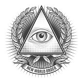 All seeing eye in delta triangle