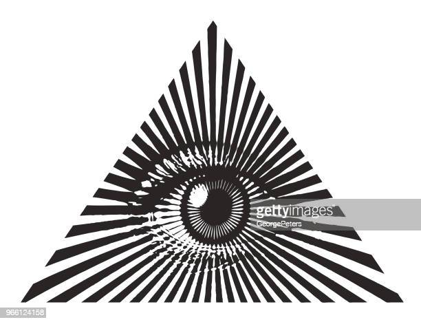all seeing eye - spirituality stock illustrations, clip art, cartoons, & icons