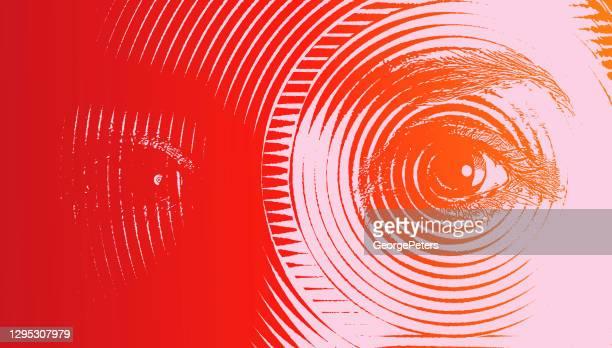all seeing eyes - magic eye stock illustrations