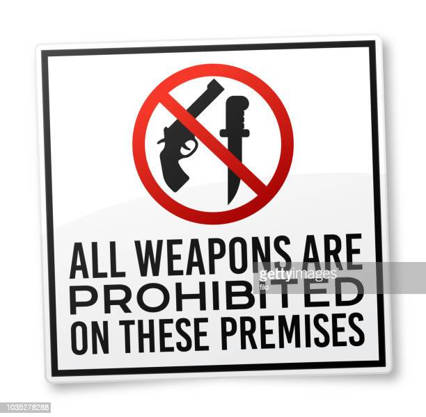 All Weapons Are Prohibited Warning Sign