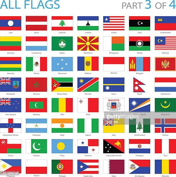 Tous les drapeaux du monde icônes-Illustration
