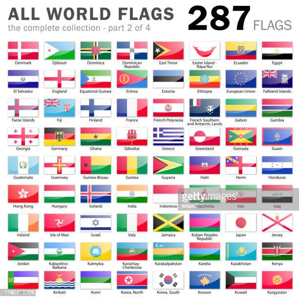 All World Flags - 287 items - part 2 of 4