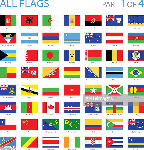all world flags - illustration - bahrain stock illustrations, clip art, cartoons, & icons