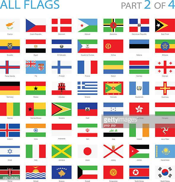 all world flags - illustration - ghana stock illustrations, clip art, cartoons, & icons