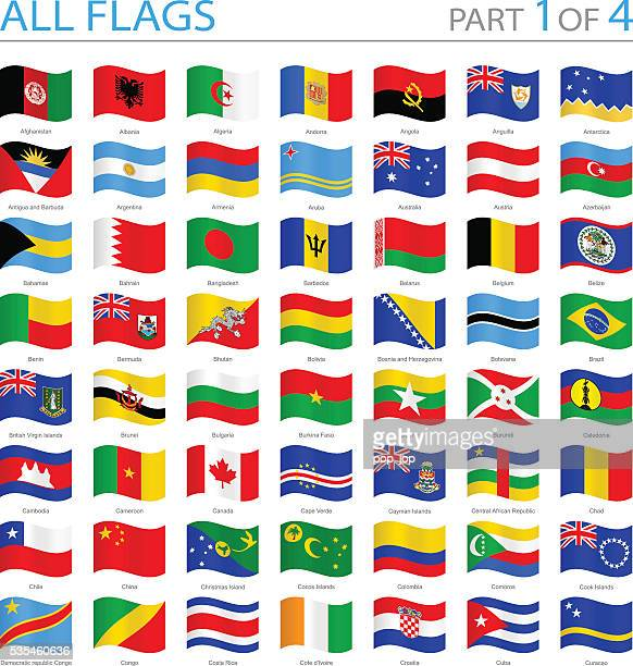 All World Flags - Swung Icons - Illustration