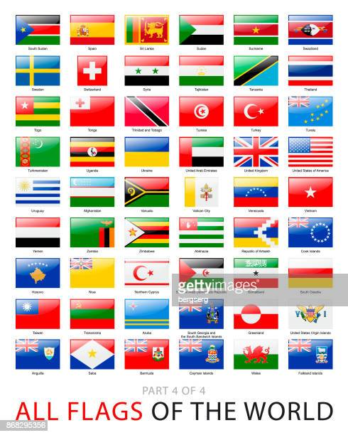 all world flags. vector collection - national flag stock illustrations, clip art, cartoons, & icons