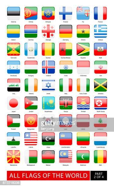 Alle Flaggen der Welt. Vektor-Sammlung
