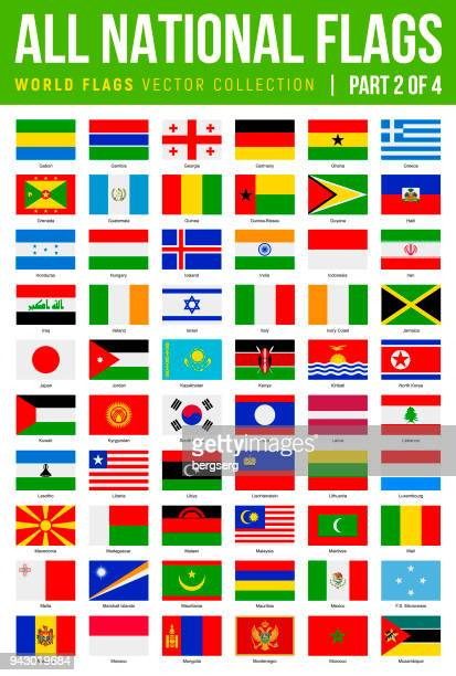 All World Flags. Vector Flat Icons. Part 2 of 4
