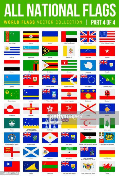 All World Flags. Vector Flat Icons. Part 4 of 4