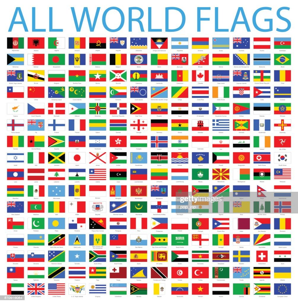 All World Flags - Vector Icon Set : Stock Illustration