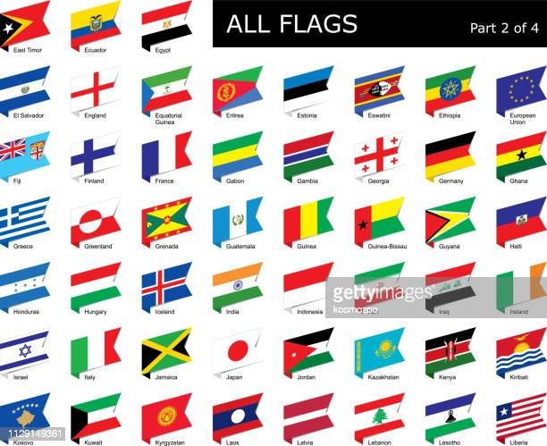 all world flags - national flag stock illustrations, clip art, cartoons, & icons