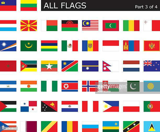 all world flags - qatar stock illustrations, clip art, cartoons, & icons