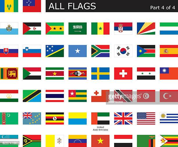all world flags - senegal stock illustrations, clip art, cartoons, & icons