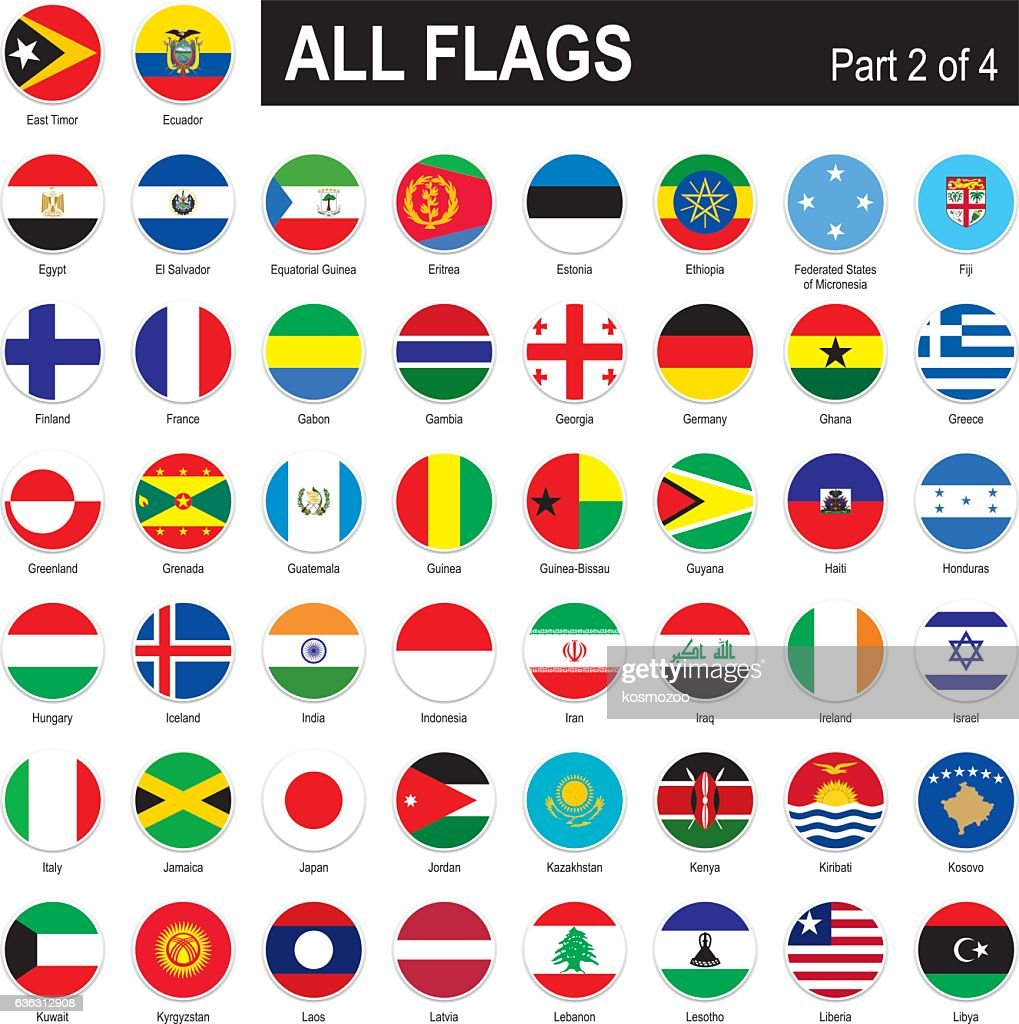 All World Flags : Stock Illustration