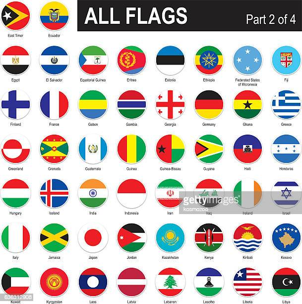 all world flags - ghana stock illustrations, clip art, cartoons, & icons