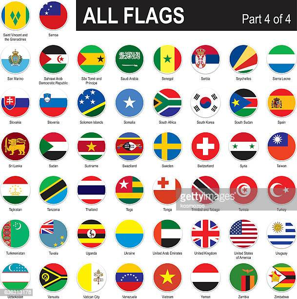 all world flags - flag stock illustrations