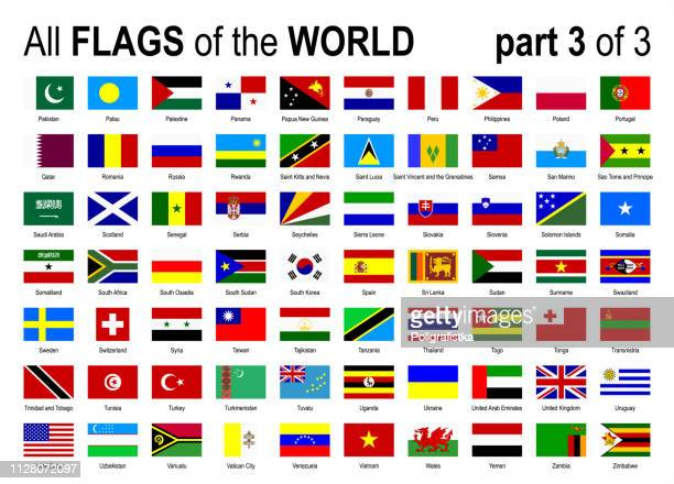 alle welt national flags icon set - alphabetisch - teil 3 von 3 - vektor-illustration - scotland stock-grafiken, -clipart, -cartoons und -symbole