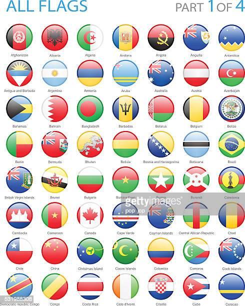 Alle Welt runde Flaggen-Icons-Illustration