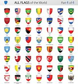 All World Shield Vector Flags - Collection