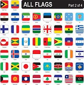 All world square flags