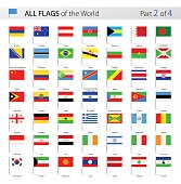 All World Vector Flag Pins - Collection