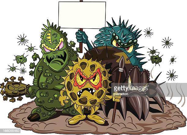 allergen army - pollen stock illustrations, clip art, cartoons, & icons