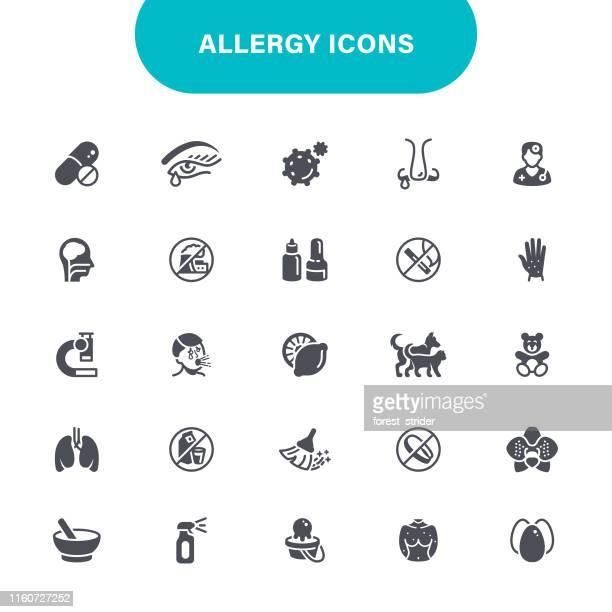 アレルギーと花粉のアイコン - 身体症状点のイラスト素材/クリップアート素材/マンガ素材/アイコン素材