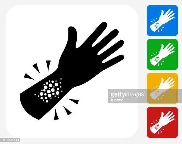 Reacção alérgica ícone Flat Design gráfico