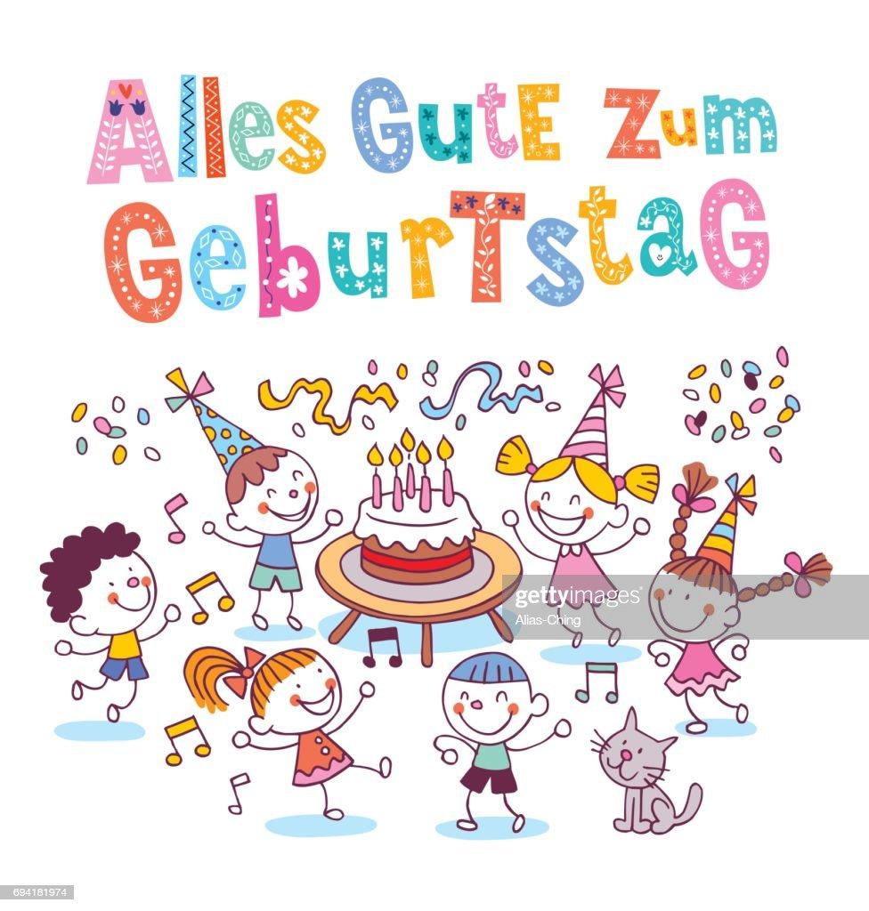 alles gute zum geburtstag deutsch german happy birthday vector art
