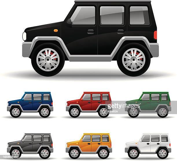 allroad car - 4x4 stock illustrations, clip art, cartoons, & icons