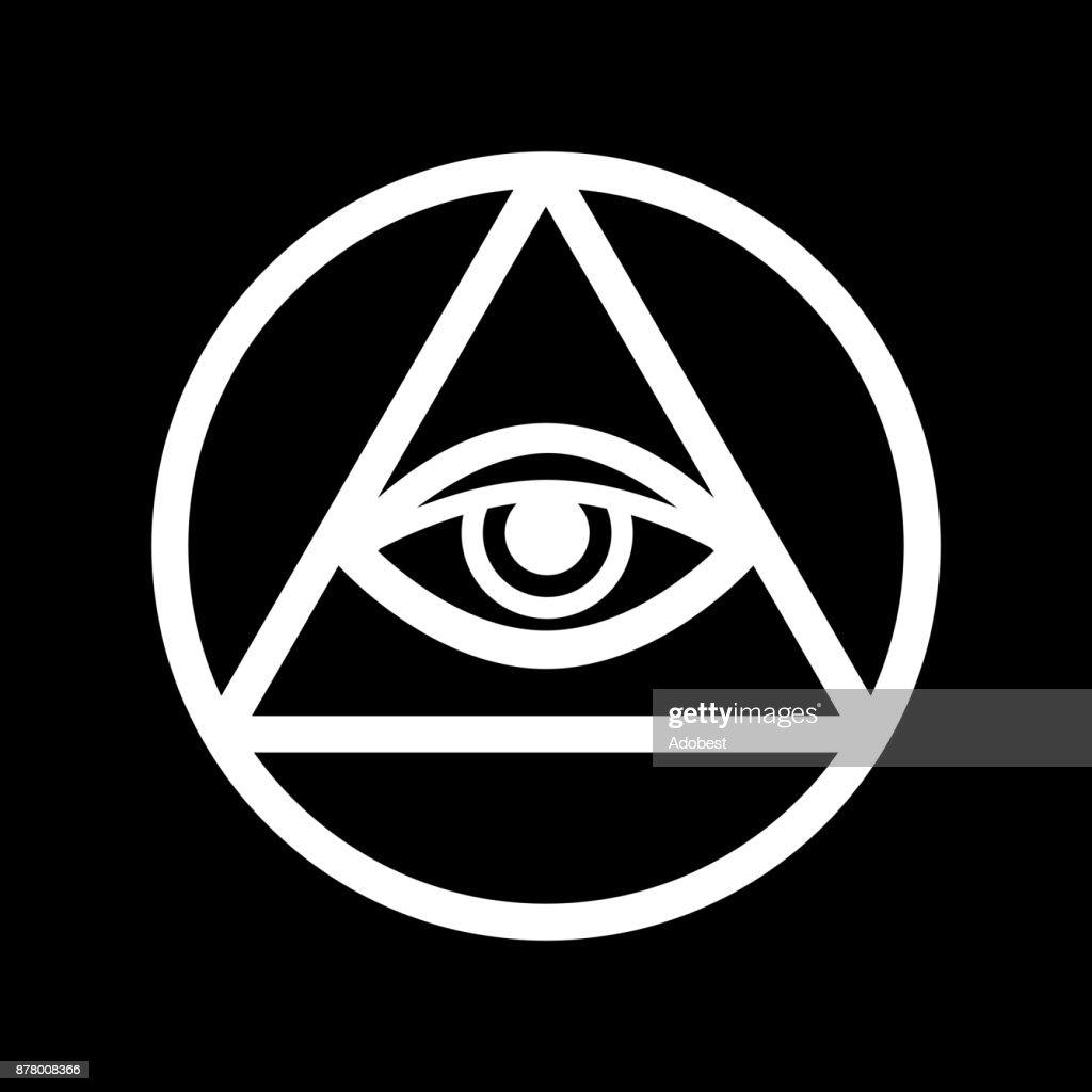 Allseeing Eye Of God Ancient Mystical Sacral Symbol Of