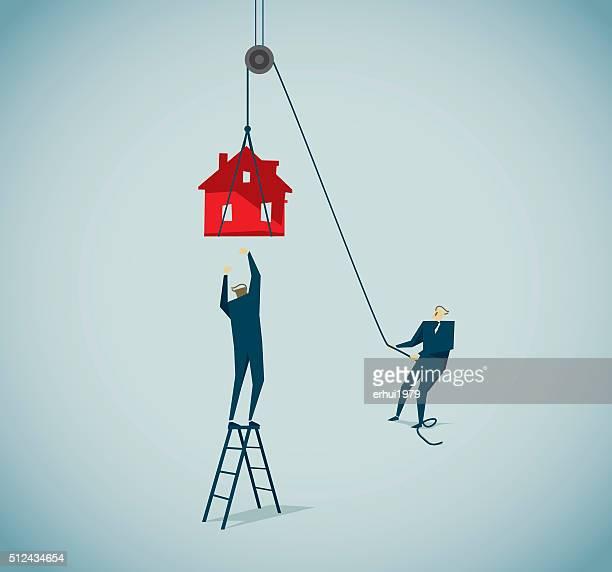 allurement - housing development stock illustrations