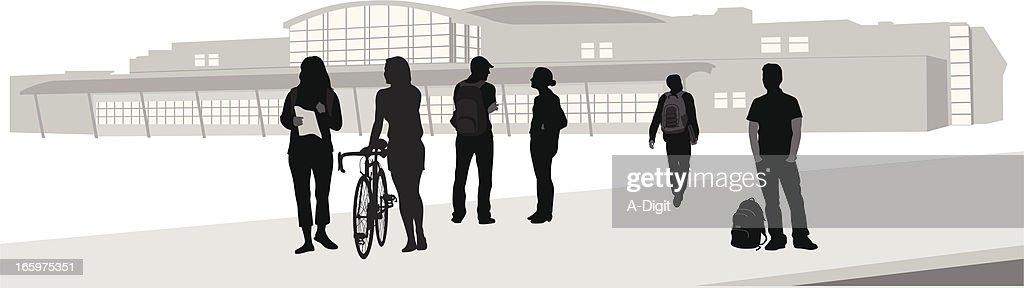 Alma Mater Vector Silhouette : stock illustration