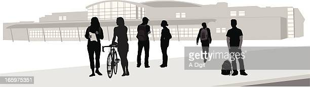 alma mater vector silhouette - high school student stock illustrations, clip art, cartoons, & icons