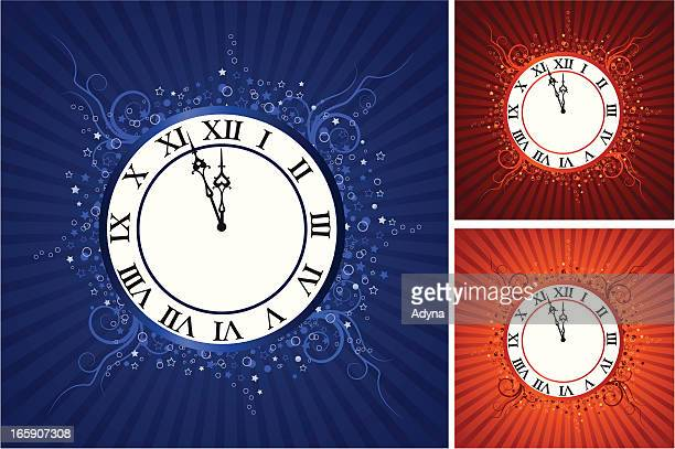 almost midnight - midnight stock illustrations