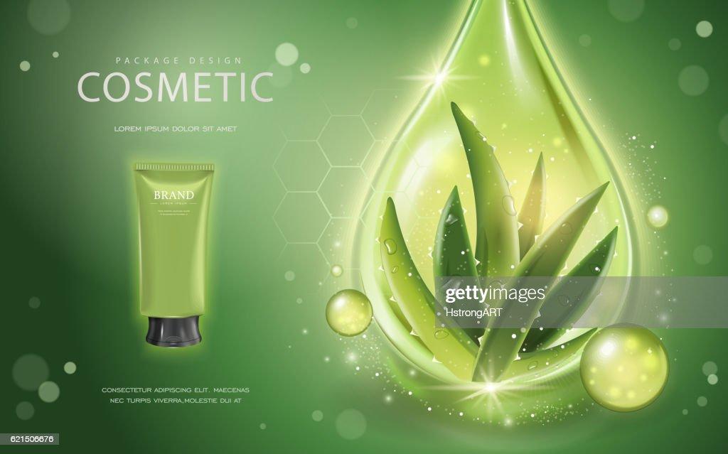 Aloe vera cosmetic template