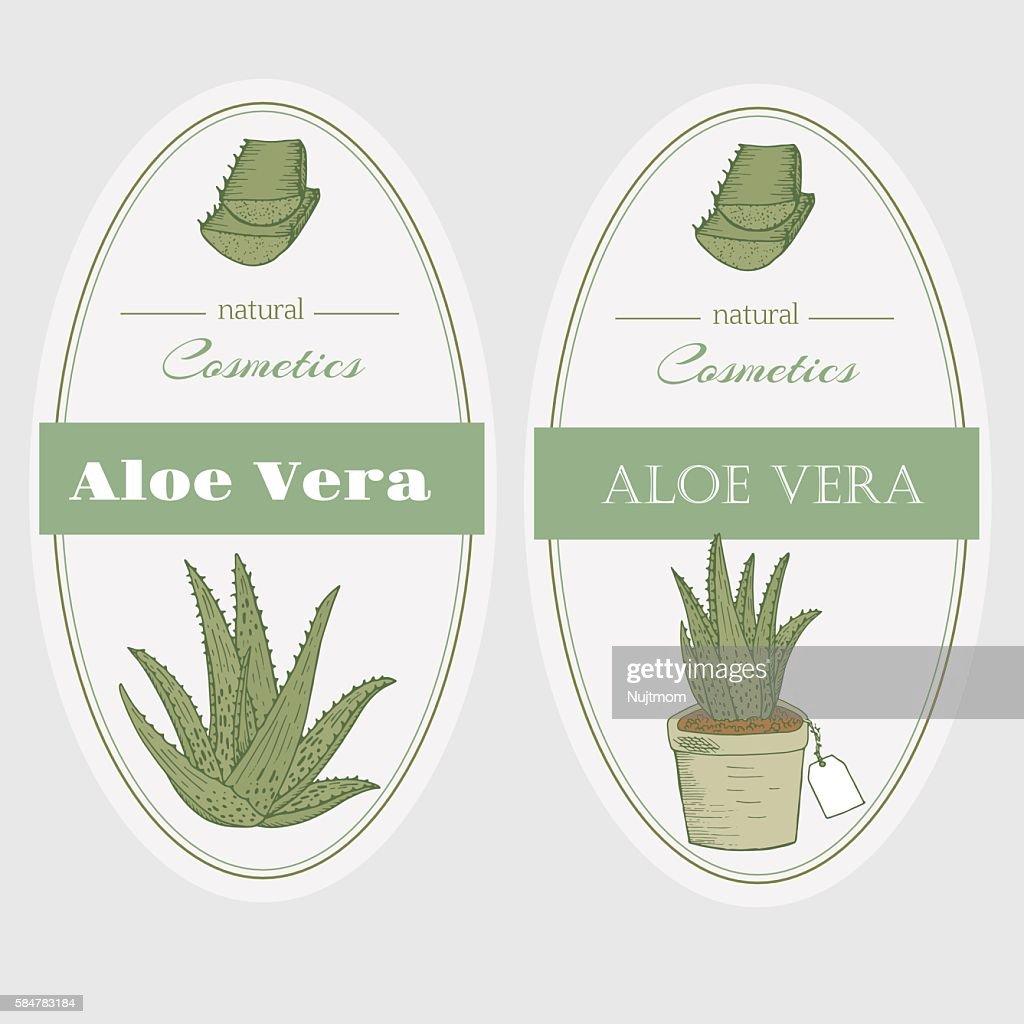 Aloe vera labels